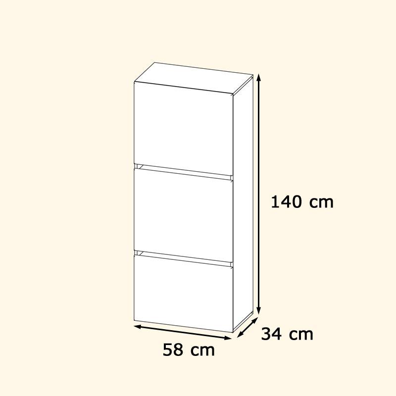 tv lowboard schrank wohnwand m bel scaleo v6 in wei oder. Black Bedroom Furniture Sets. Home Design Ideas