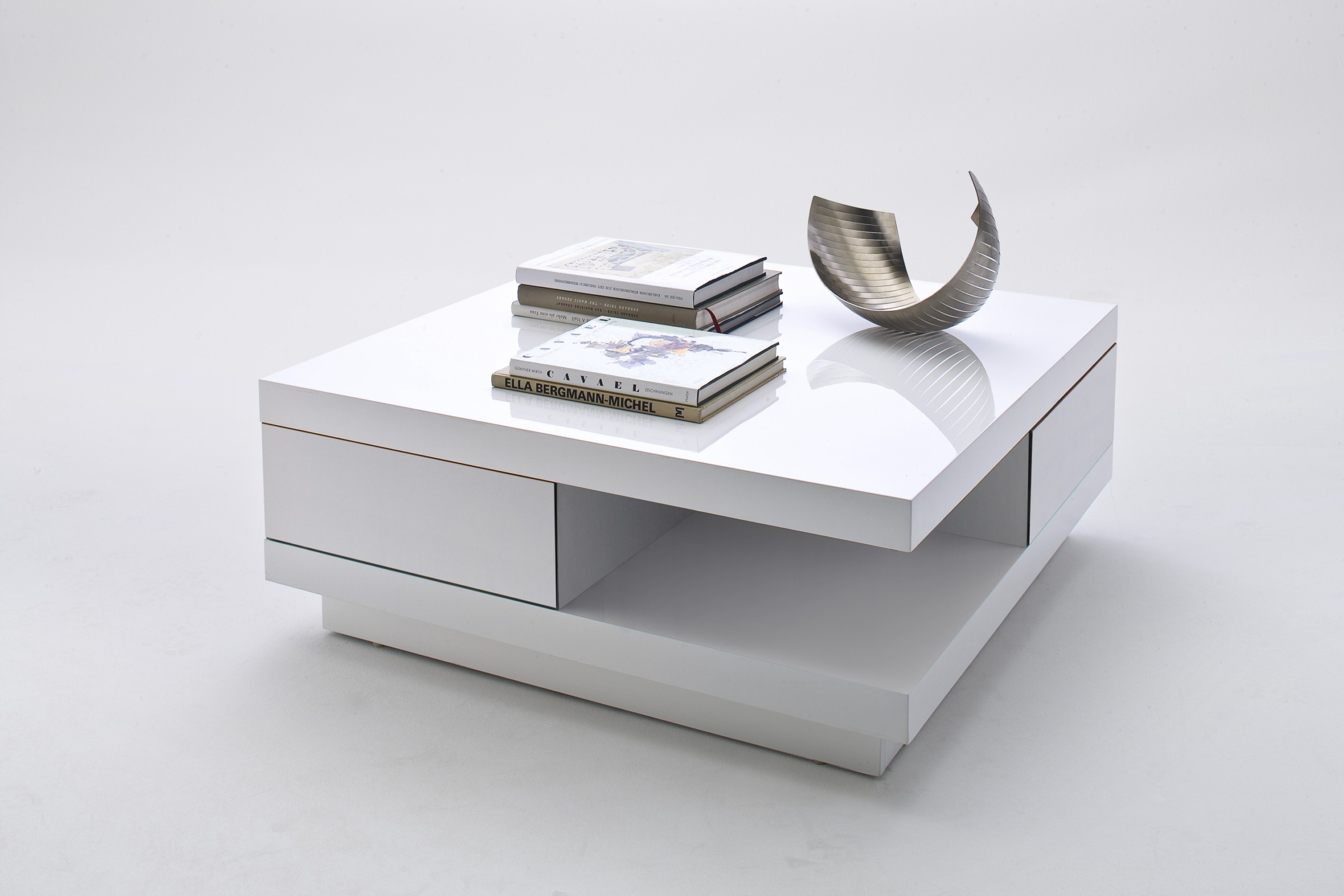 New Designer Coffee Table Abellio in White High Gloss with
