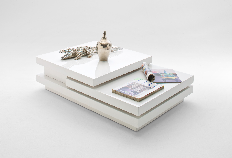 Couchtisch Wohnzimmertisch Tisch Allevi in Weiß Hochglanz