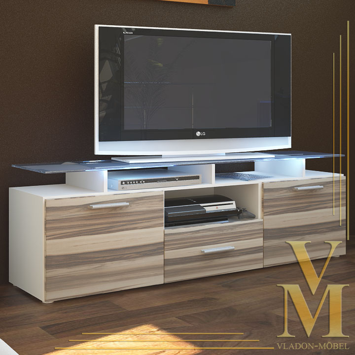 Tv board lowboard sideboard almada in white baltimore ebay for Sideboard lowboard
