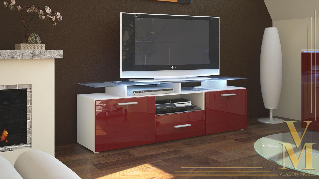 tv board lowboard sideboard tisch rack m bel almada wei. Black Bedroom Furniture Sets. Home Design Ideas
