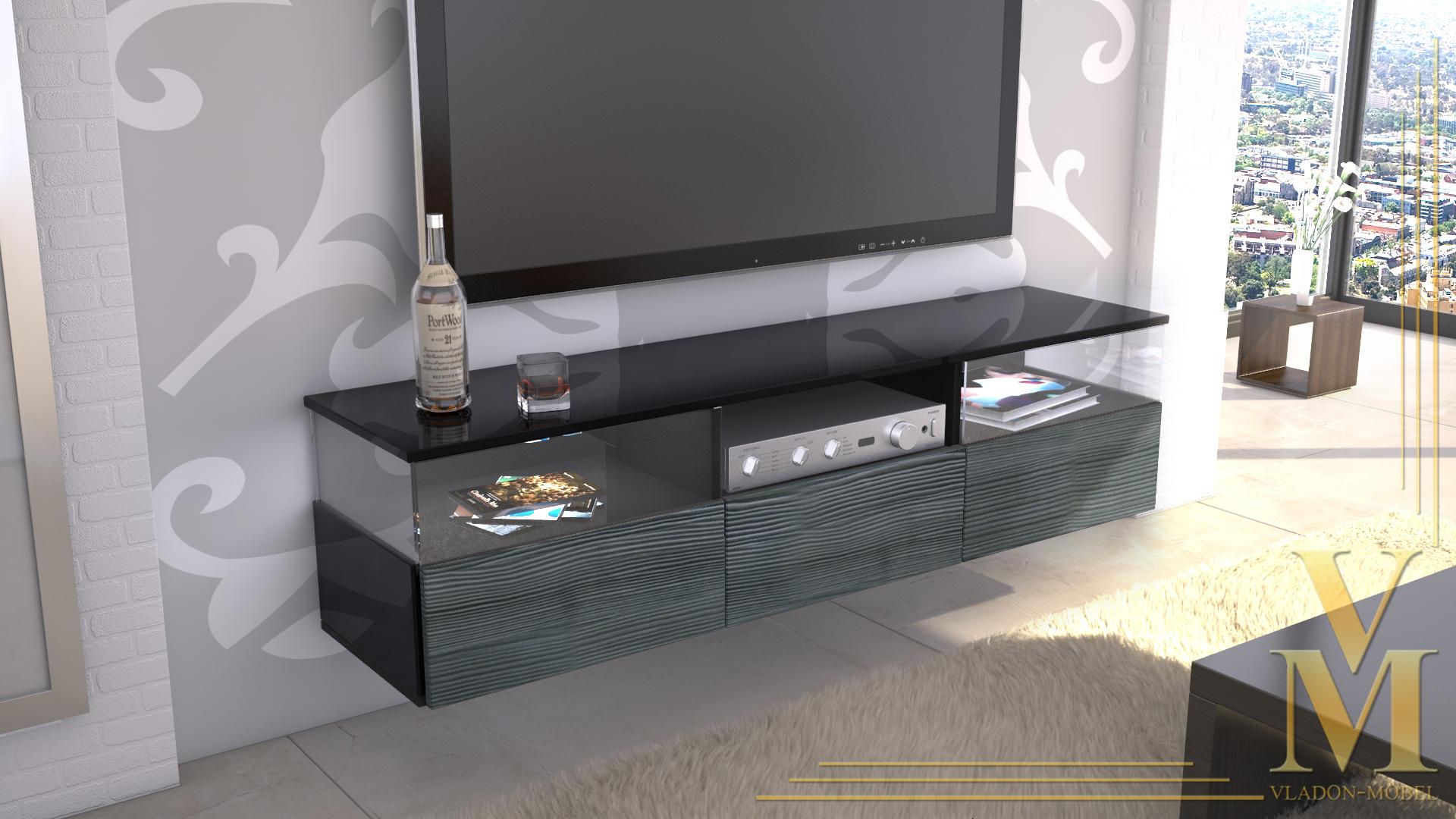 lowboard anthrazit bestseller shop f r m bel und. Black Bedroom Furniture Sets. Home Design Ideas