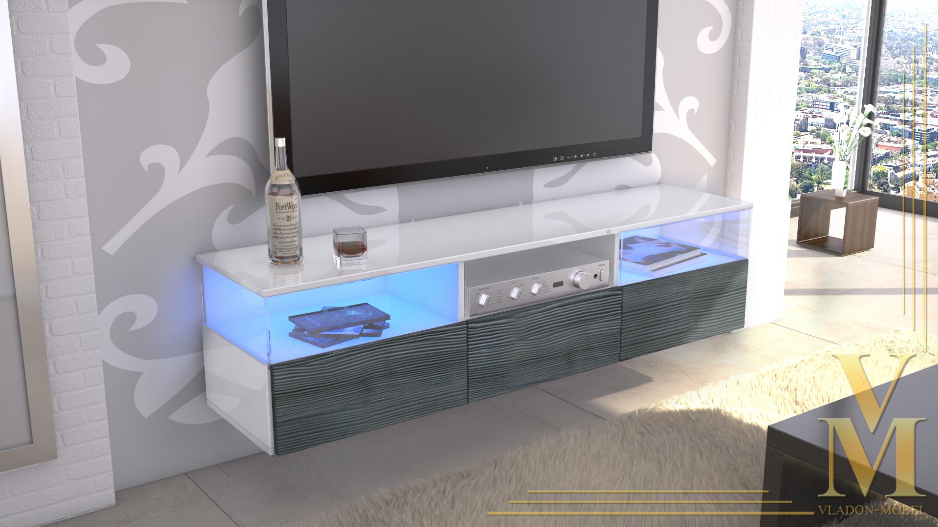 tv board weis anthrazit haus design und m bel ideen. Black Bedroom Furniture Sets. Home Design Ideas