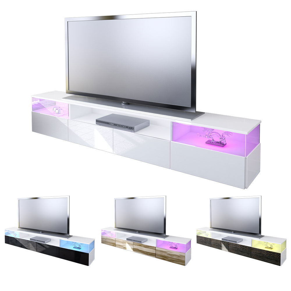 lowboard kommode tv board unterschrank almeria v2 wei. Black Bedroom Furniture Sets. Home Design Ideas