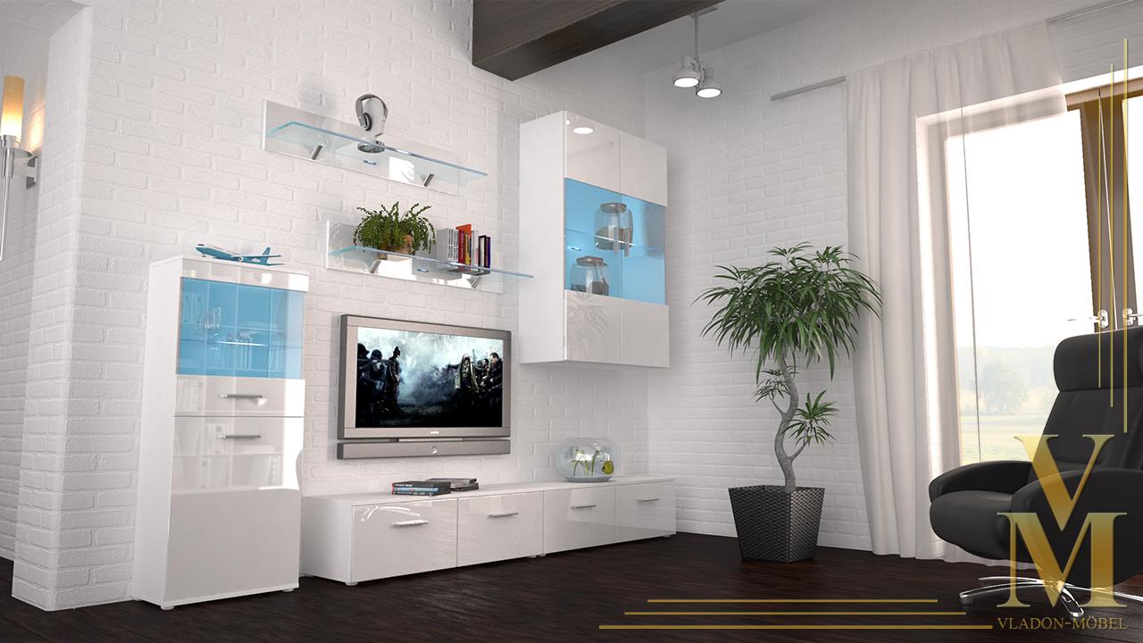 wohnzimmer anbauwand wei landhausmobel dekoration und