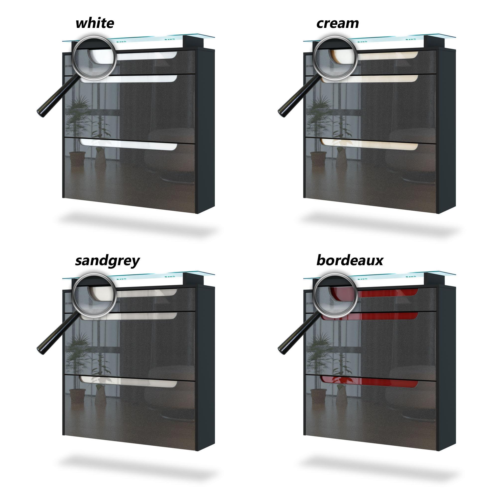shoe storage rack hanging cabinet annie in black high. Black Bedroom Furniture Sets. Home Design Ideas