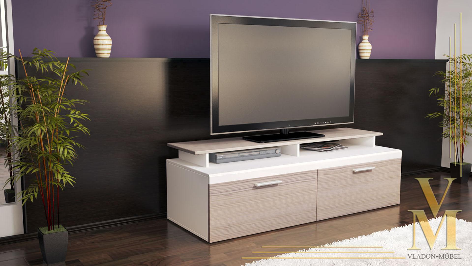 tv stand unit board lowboard cabinet atlanta white high. Black Bedroom Furniture Sets. Home Design Ideas