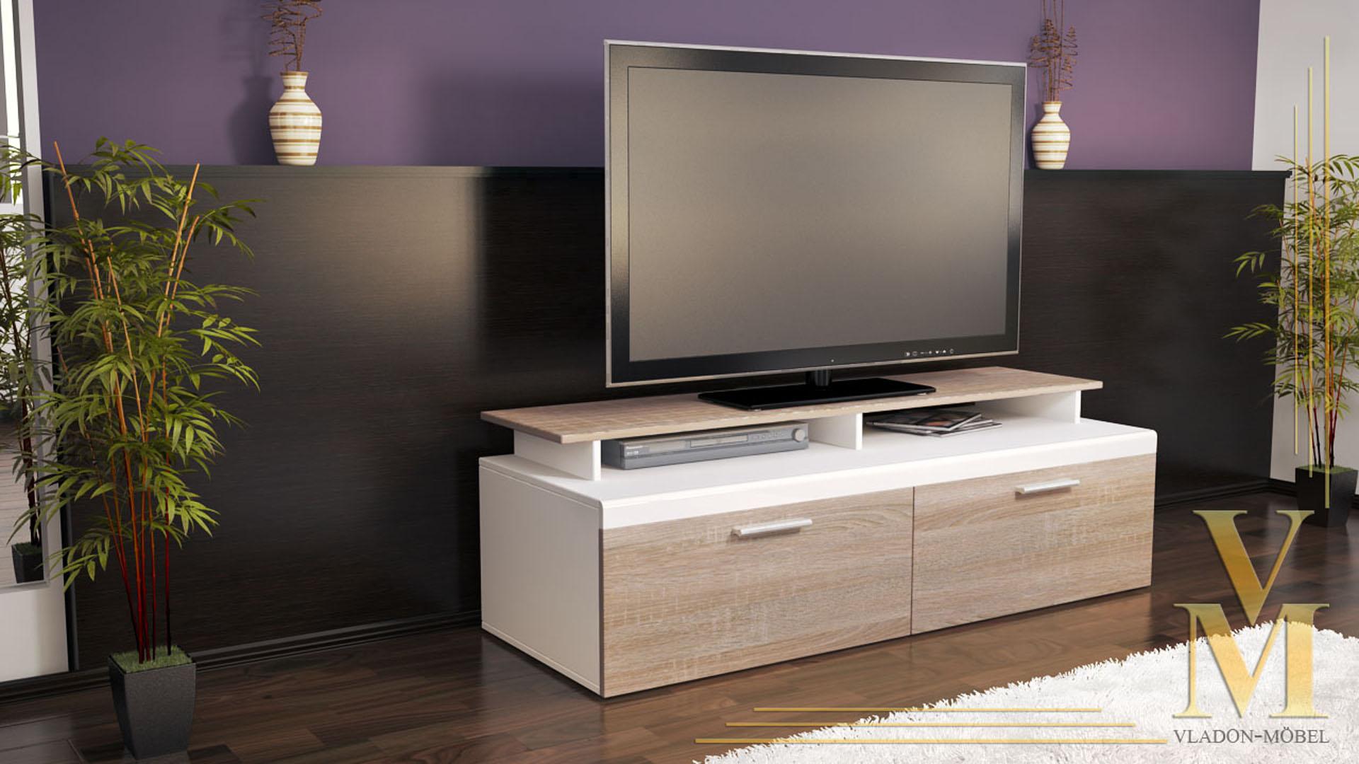 tv stand unit board lowboard cabinet atlanta white high gloss natural tones ebay. Black Bedroom Furniture Sets. Home Design Ideas