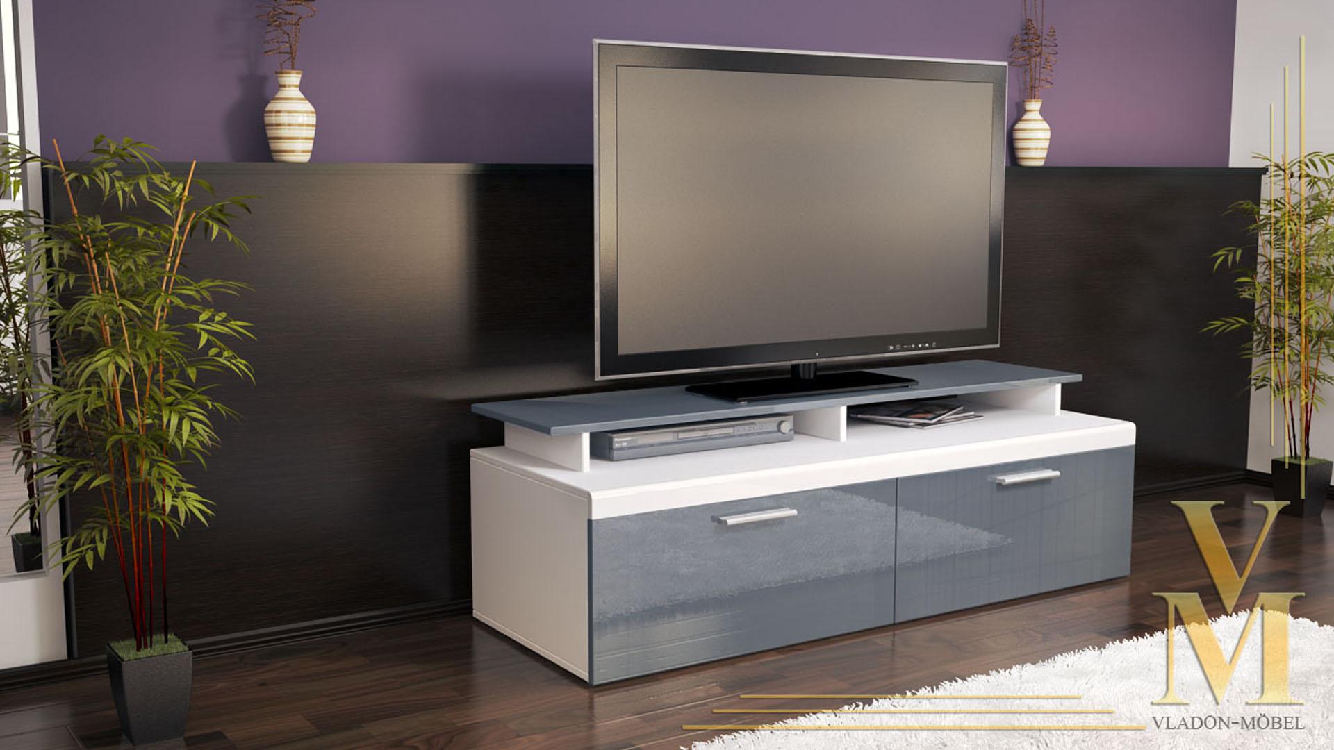 lowboard wei grau hochglanz das bild wird geladen with lowboard wei grau hochglanz great. Black Bedroom Furniture Sets. Home Design Ideas