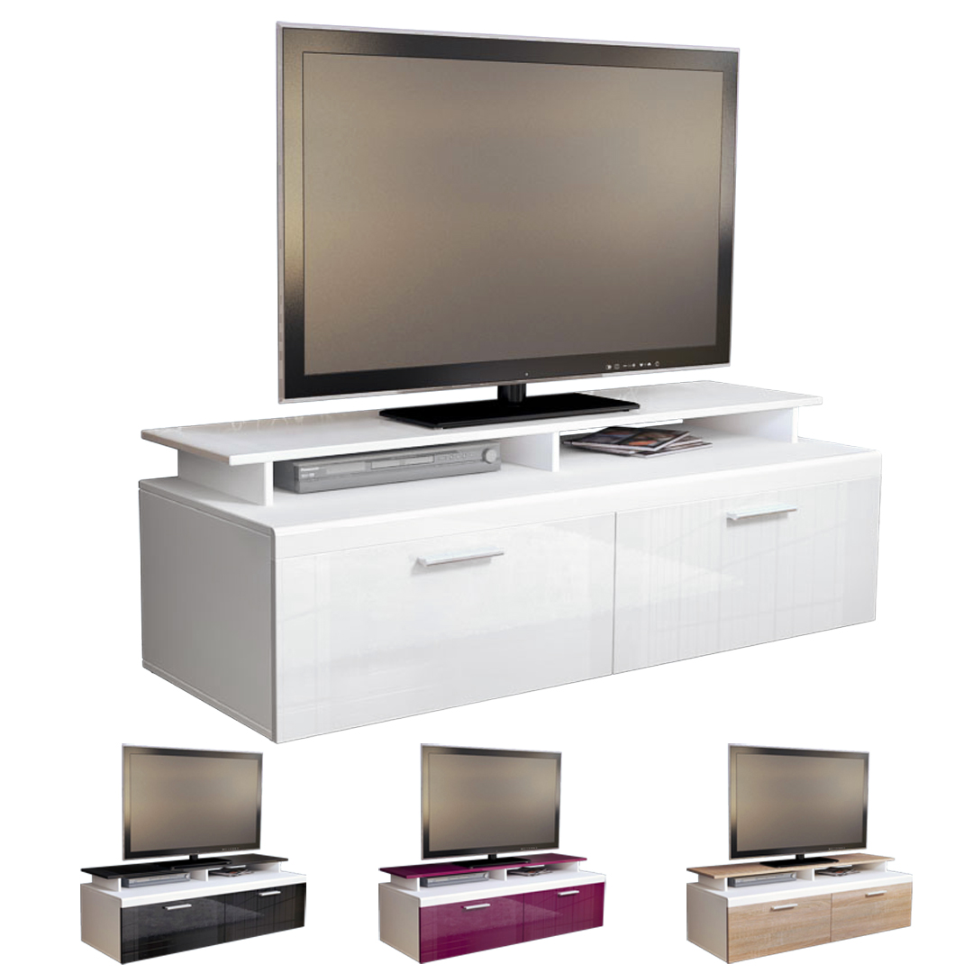 tv stand unit board lowboard cabinet atlanta white high. Black Bedroom Furniture Sets. Home Design Ideas