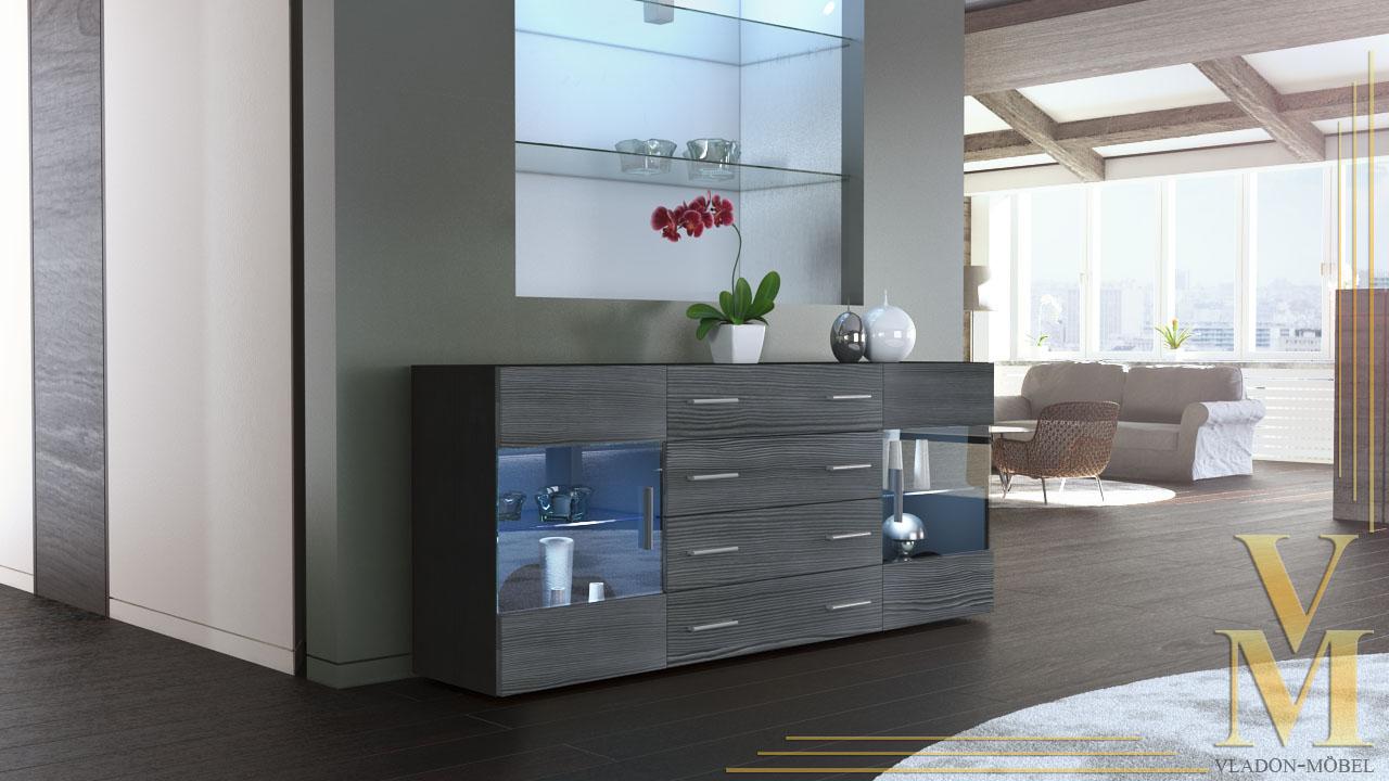 Modern Sideboard Buffet Server Storage Cabinet Chest Bari