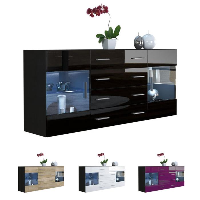 modern sideboard buffet server storage cabinet chest bari. Black Bedroom Furniture Sets. Home Design Ideas