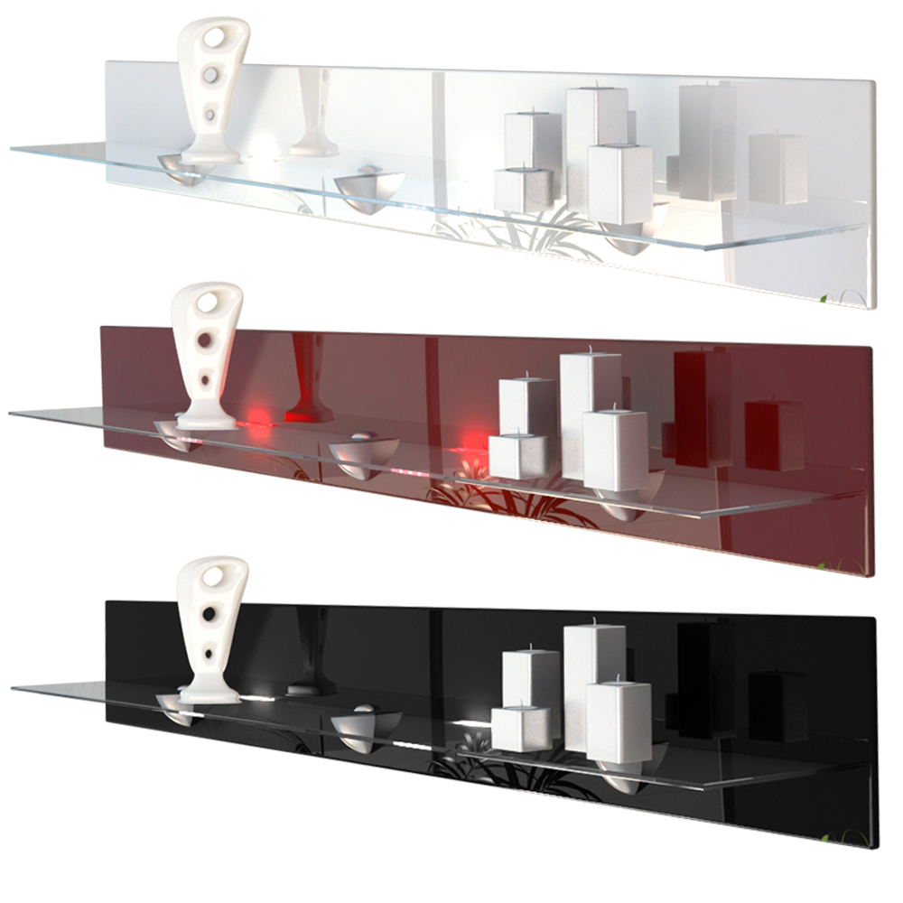 Shelf Wall Mounted Floating Glass Shelf Bari V2 High