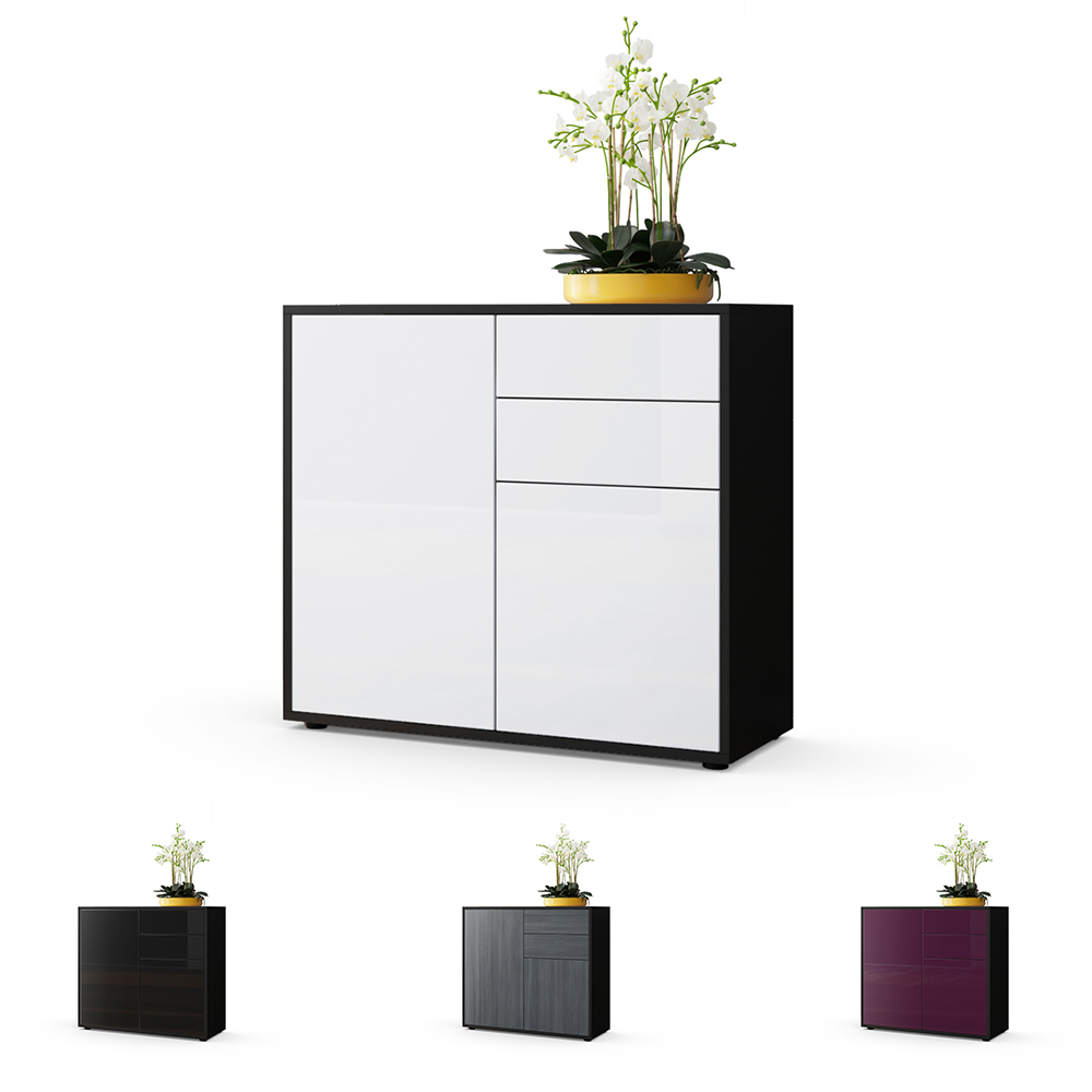 kommode sideboard anrichte schrank ben in schwarz. Black Bedroom Furniture Sets. Home Design Ideas
