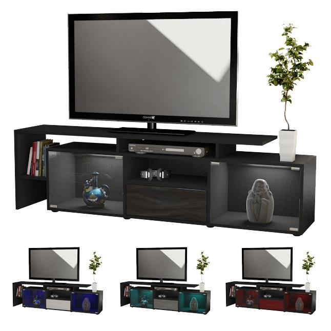 lowboard kommode tv board tisch rack bermuda in schwarz hochglanz. Black Bedroom Furniture Sets. Home Design Ideas