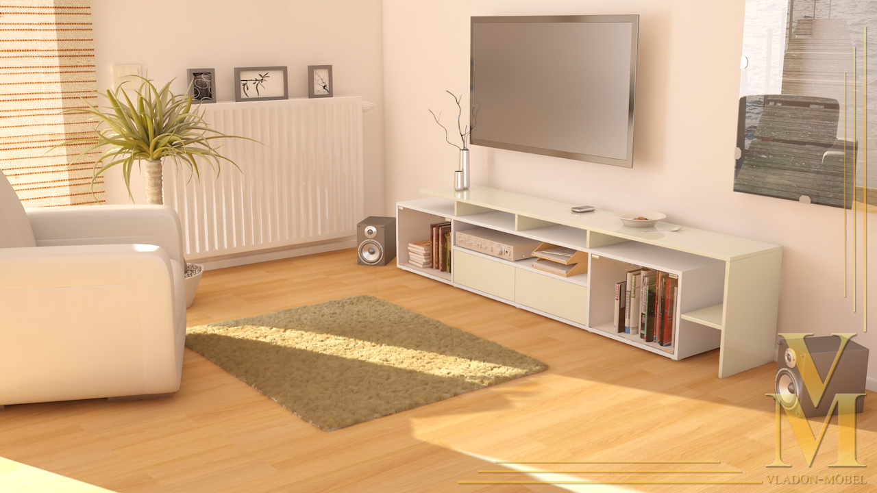 tv board lowboard tisch bermuda v2 wei deluxe in 14 hochglanz oder naturfarben ebay. Black Bedroom Furniture Sets. Home Design Ideas