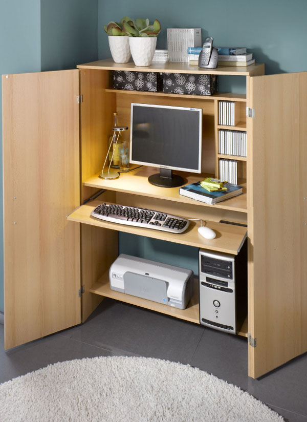 Lovely small closet desk ideas collections dream home for Schrank buche