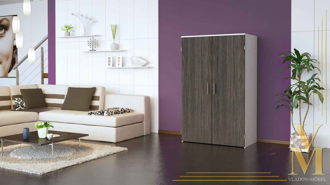 computer cupboard cabinet hideaway desk in white mali wenge ebay. Black Bedroom Furniture Sets. Home Design Ideas