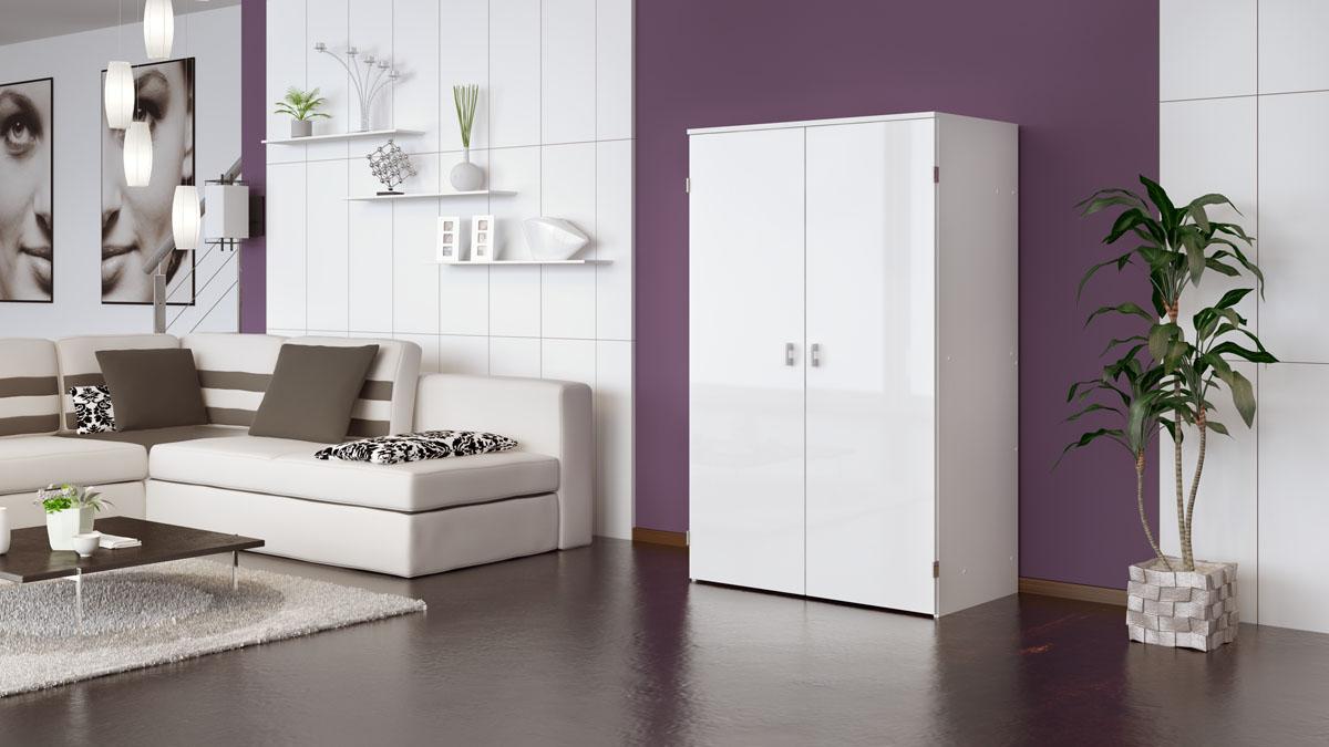 computerschrank b ro pc schrank hochglanz ebay. Black Bedroom Furniture Sets. Home Design Ideas
