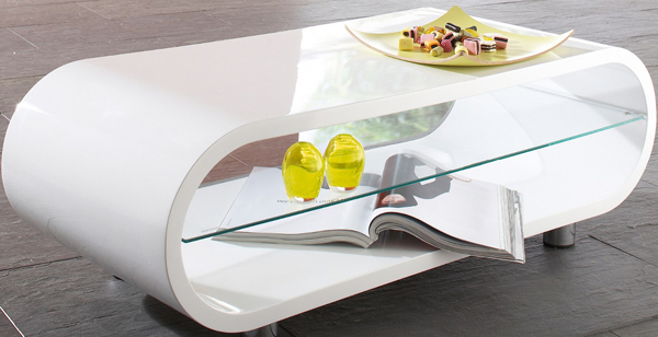 Couchtisch Beistelltisch Tisch Weiß Hochglanz Lackiert  eBay
