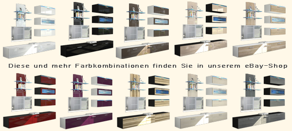 Wohnwand Cappuccino Farben : Details zu Wohnwand Anbauwand Schrankwand Faro in Cappuccino  Creme