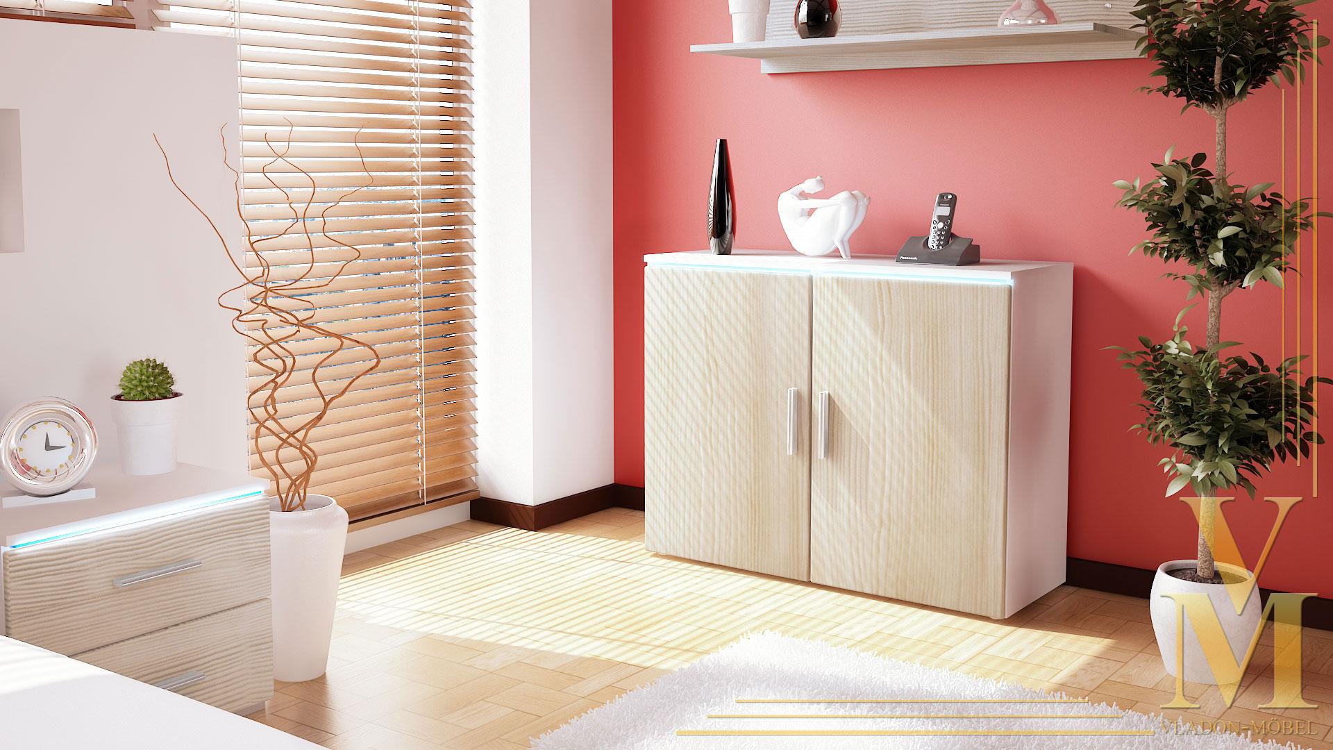 wohnzimmer naturtöne:White Buffet Cabinet Sideboard