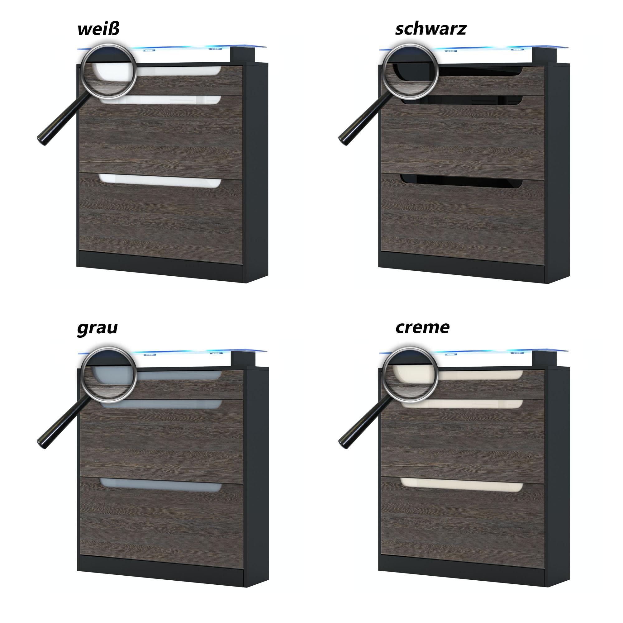 schuhschrank schuhkipper dielen schrank fiesta in schwarz hochglanz naturt ne ebay. Black Bedroom Furniture Sets. Home Design Ideas