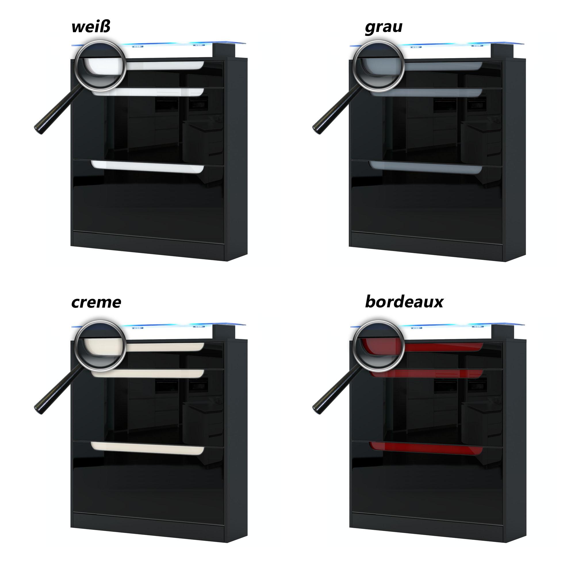 schuhschrank schuhkipper dielen schrank fiesta in schwarz. Black Bedroom Furniture Sets. Home Design Ideas