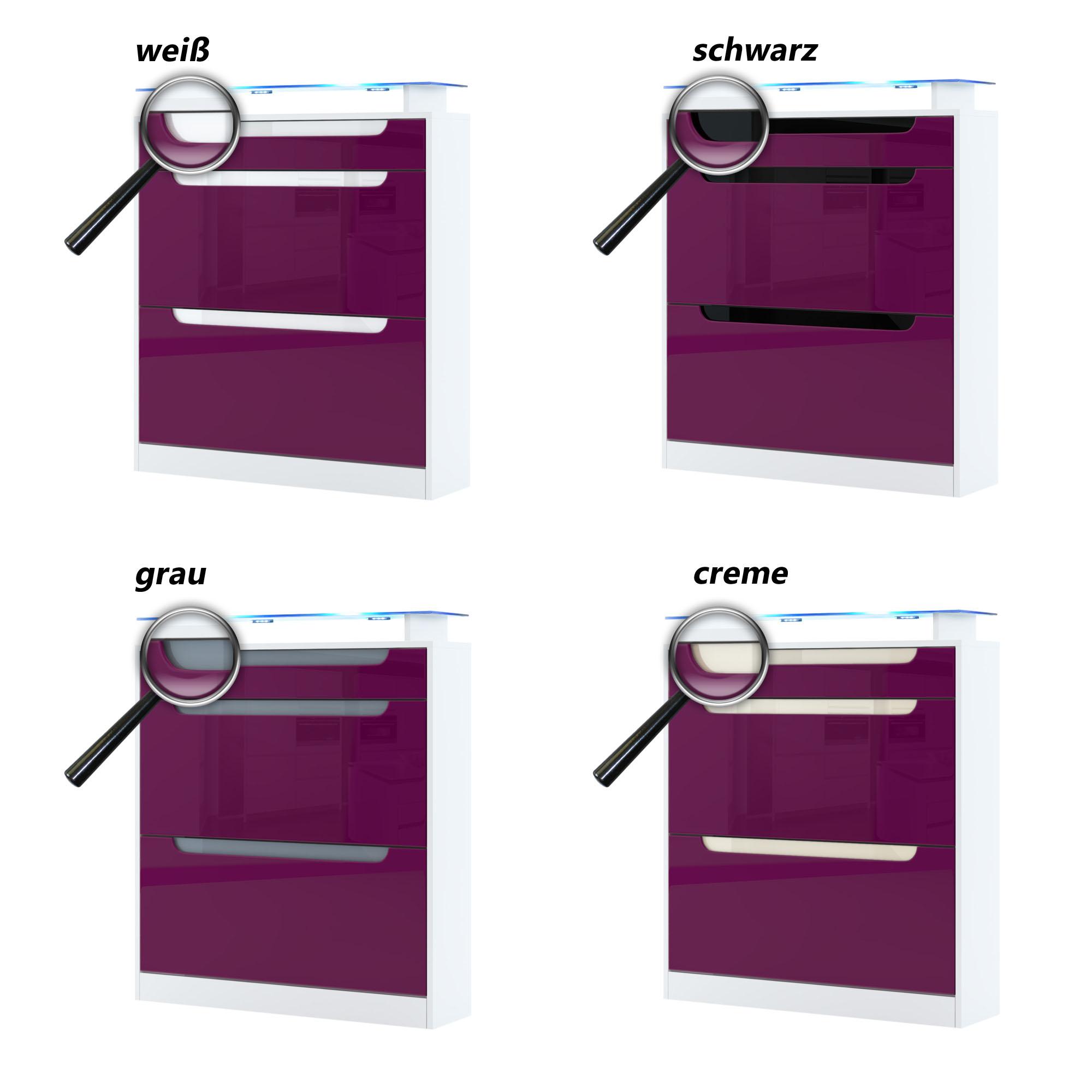 schuhschrank schuhkipper dielen schrank fiesta in wei hochglanz naturt ne ebay. Black Bedroom Furniture Sets. Home Design Ideas
