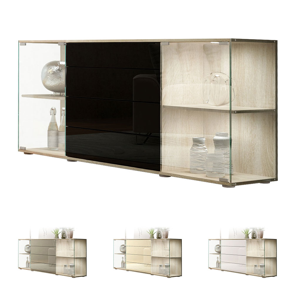 sideboard kommode vitrine anrichte f hr v2 eiche s gerau. Black Bedroom Furniture Sets. Home Design Ideas