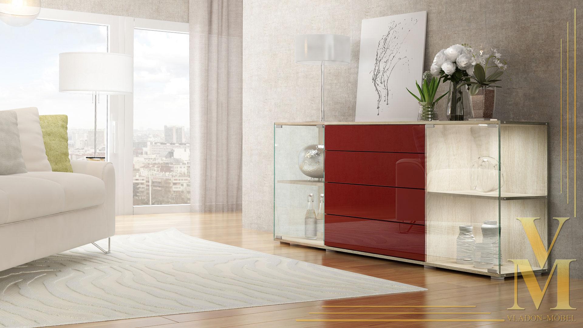 sideboard kommode vitrine anrichte f hr v2 eiche s gerau. Black Bedroom Furniture Sets. Home Design Ideas
