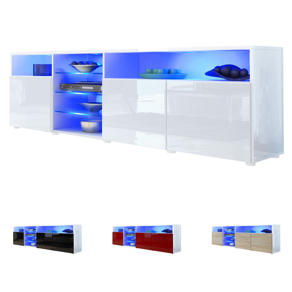tv stand board unit cabinet granada white v2 high gloss. Black Bedroom Furniture Sets. Home Design Ideas