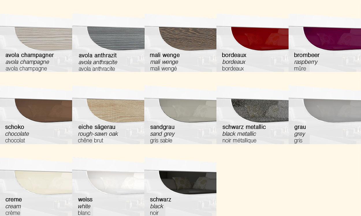 Meuble à chaussures suspendu Annie en Blanc  Façades en coloris divers -> Meuble Suspendu