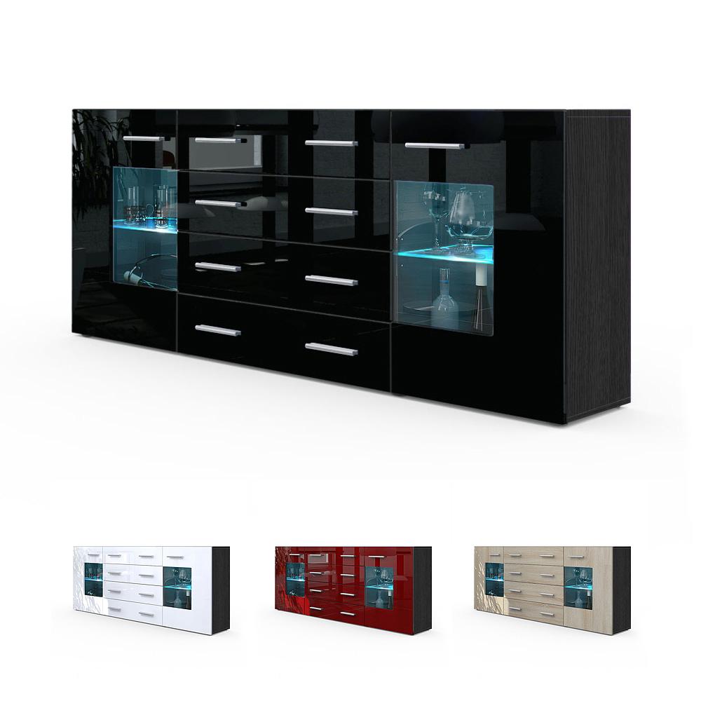 sideboard tv board anrichte kommode gr mitz v2 schwarz hochglanz. Black Bedroom Furniture Sets. Home Design Ideas