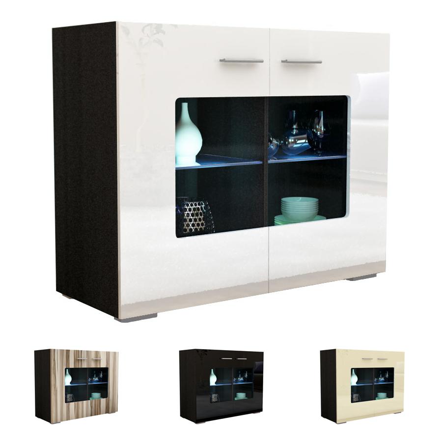 moderne kommode sideboard anrichte gr mitz v3 in schwarz. Black Bedroom Furniture Sets. Home Design Ideas