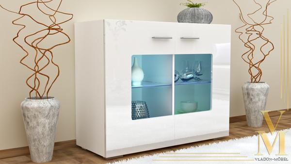 sideboard cabinet tv board gr mitz v3 in white white. Black Bedroom Furniture Sets. Home Design Ideas