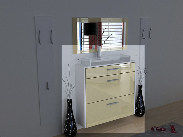 h nge schuhschrank schuhkipper malea hochglanz ebay. Black Bedroom Furniture Sets. Home Design Ideas