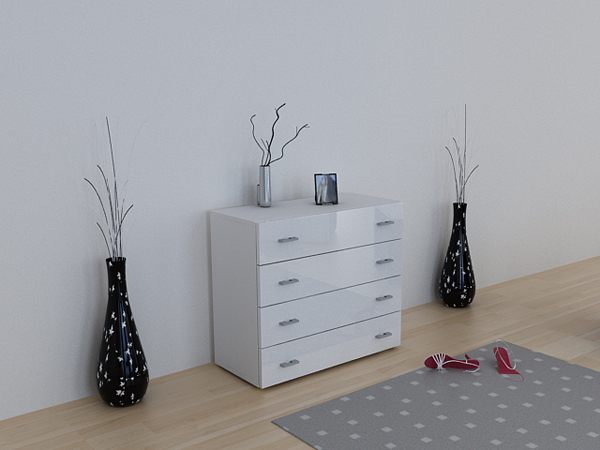 kommode sideboard anrichte pavos weiss weiss hochglanz ebay. Black Bedroom Furniture Sets. Home Design Ideas