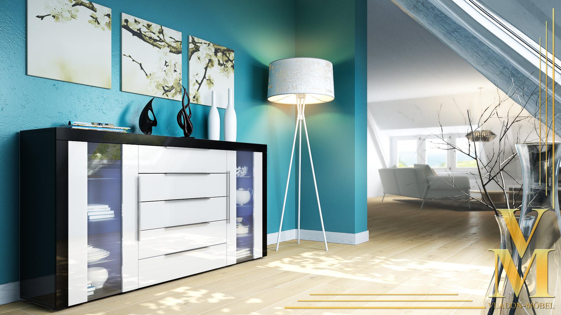 sideboard tv stand unit cabinet chest of drawers la paz. Black Bedroom Furniture Sets. Home Design Ideas