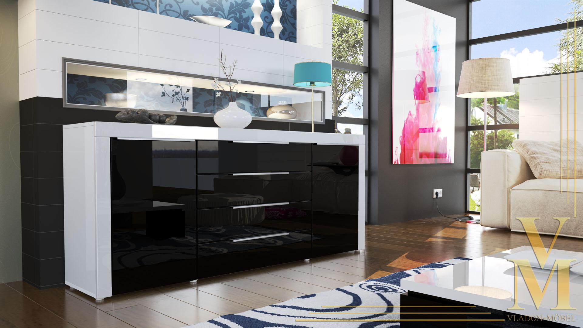 tv schrank schwarz inspirierendes design f r wohnm bel. Black Bedroom Furniture Sets. Home Design Ideas