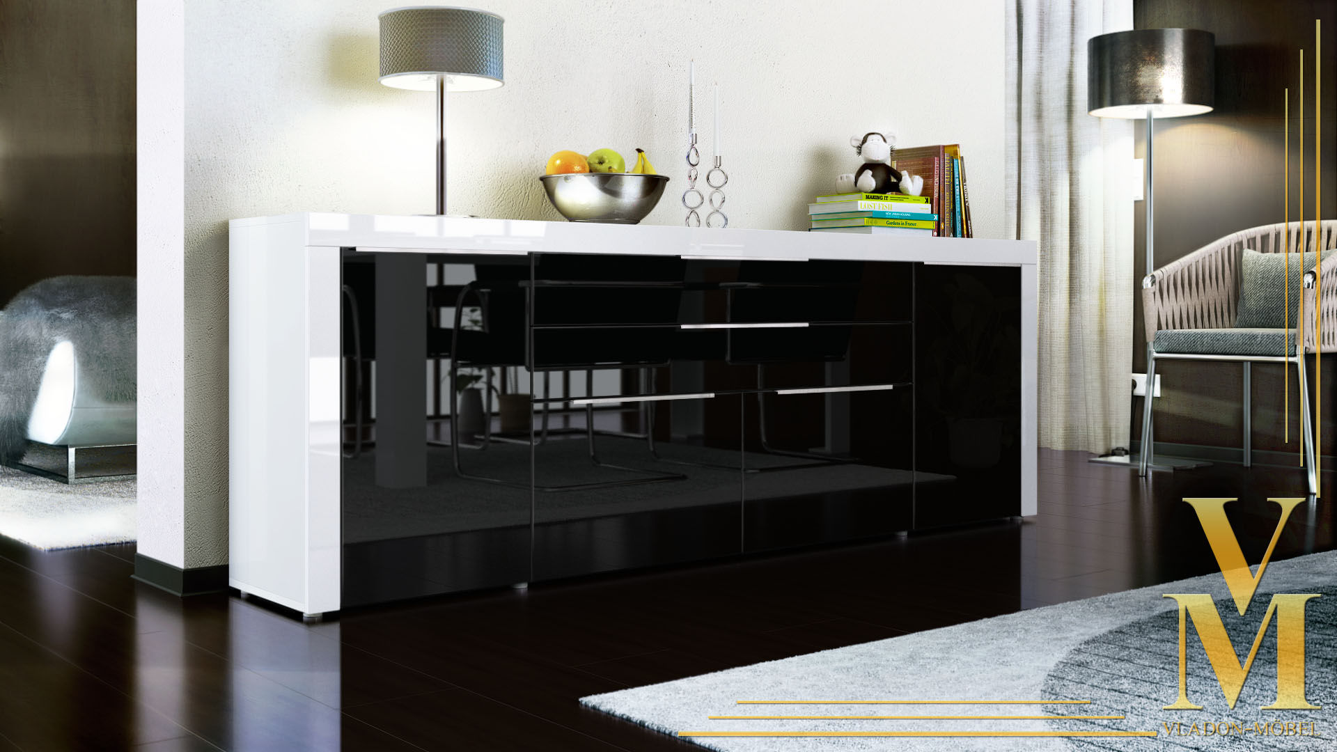 kommode sideboard tv board highboard schrank la paz in. Black Bedroom Furniture Sets. Home Design Ideas