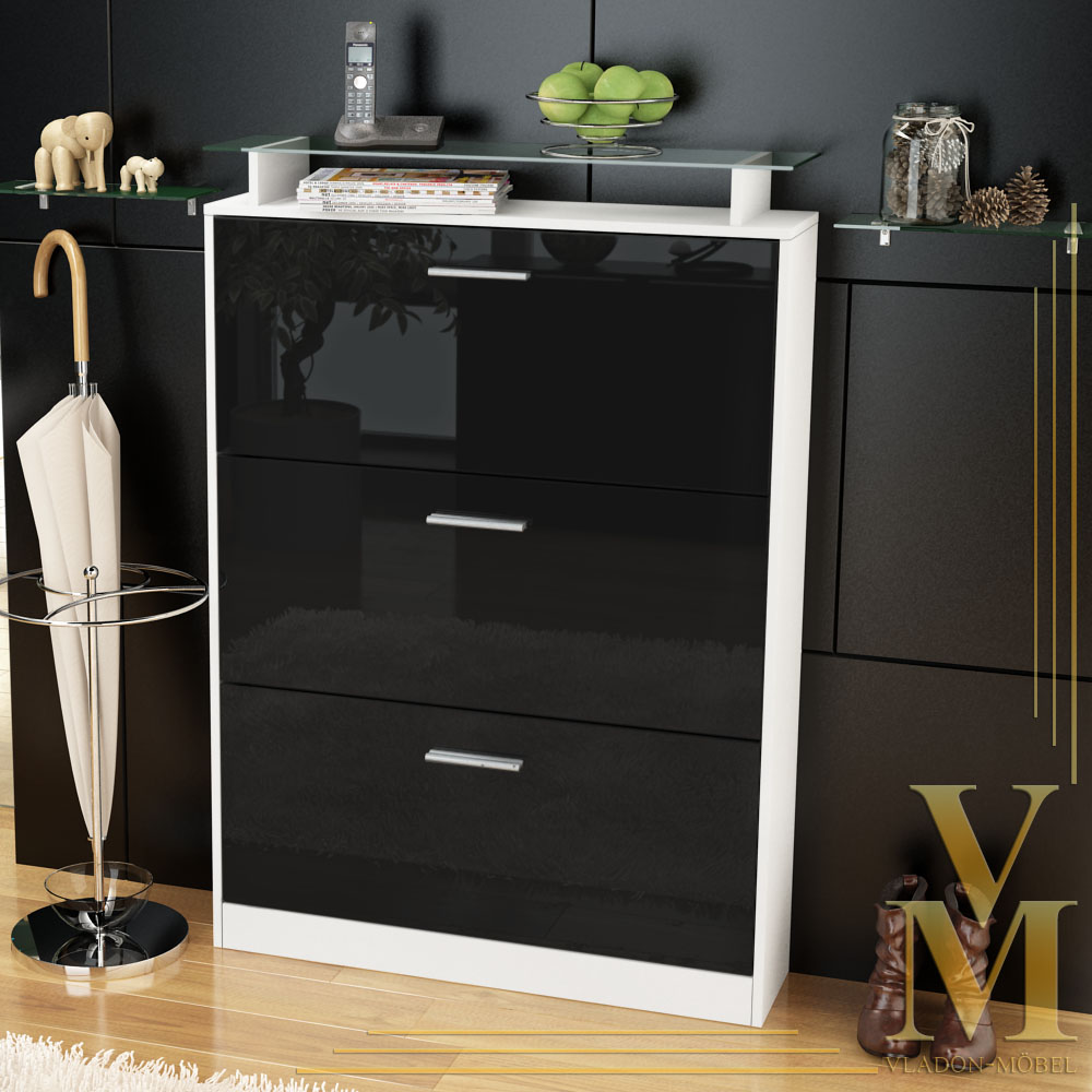 schuhschrank schuhkipper lavia wei wei hochglanz ebay. Black Bedroom Furniture Sets. Home Design Ideas