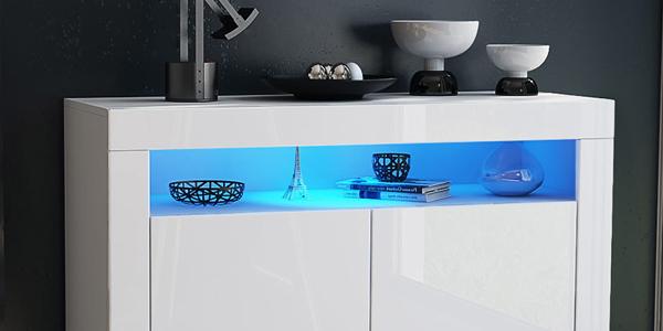 led rgb beleuchtung unterbaustrahler unterbauleuchte spot licht m belleuchte set. Black Bedroom Furniture Sets. Home Design Ideas