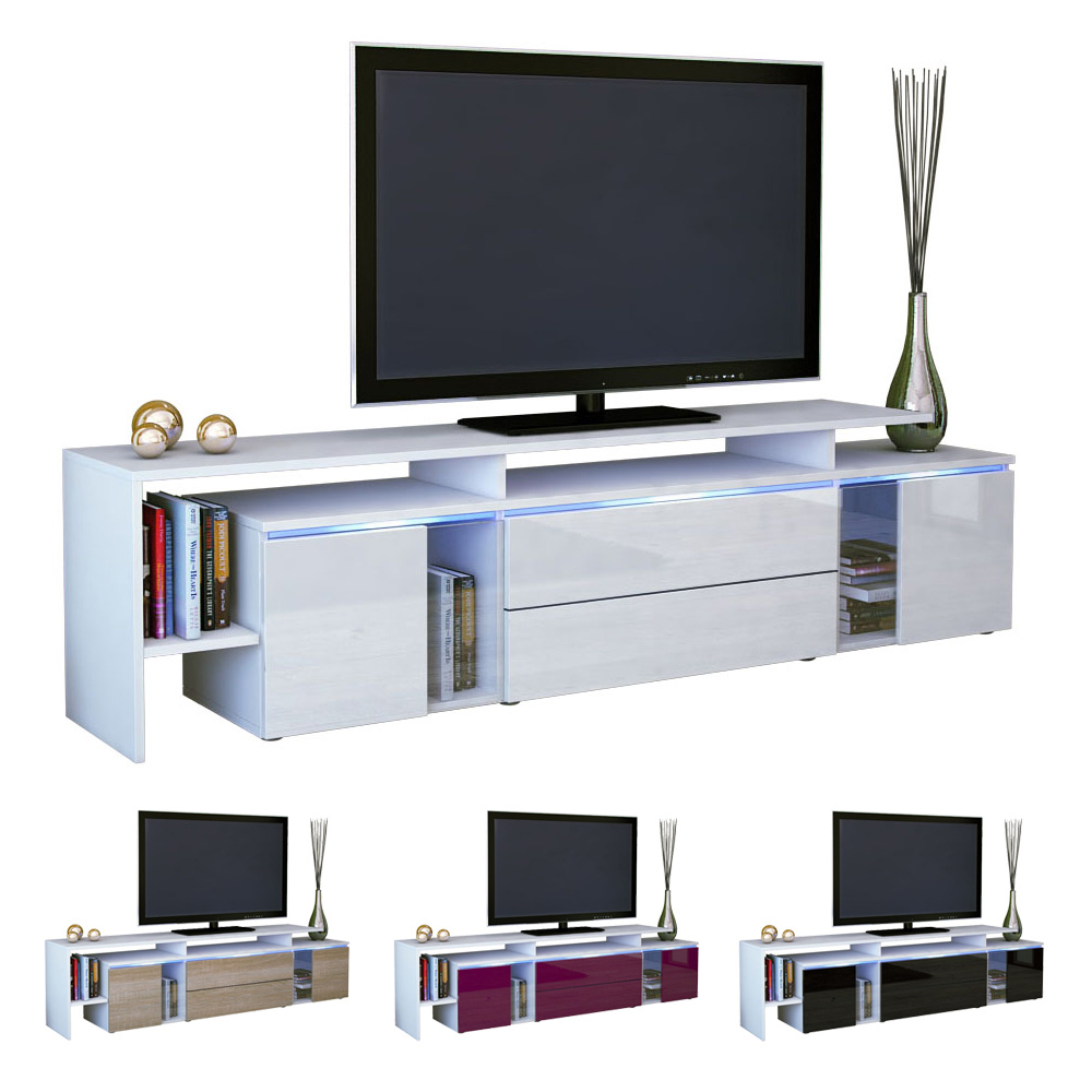 modern tv stand media entertainment center unit lissabon white high gloss ebay. Black Bedroom Furniture Sets. Home Design Ideas
