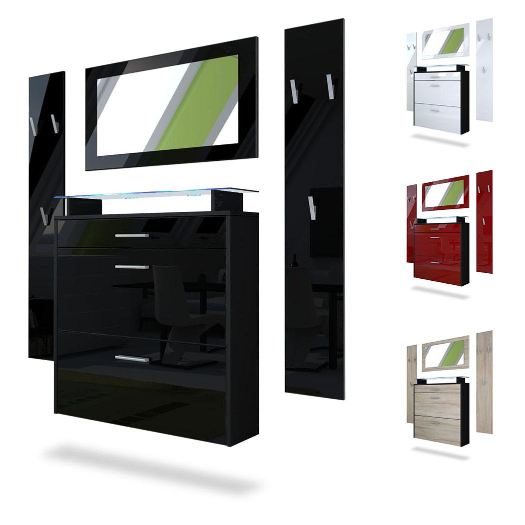 amp flur garderoben sets garderoben set hmw spazio 2 tlg. Black Bedroom Furniture Sets. Home Design Ideas