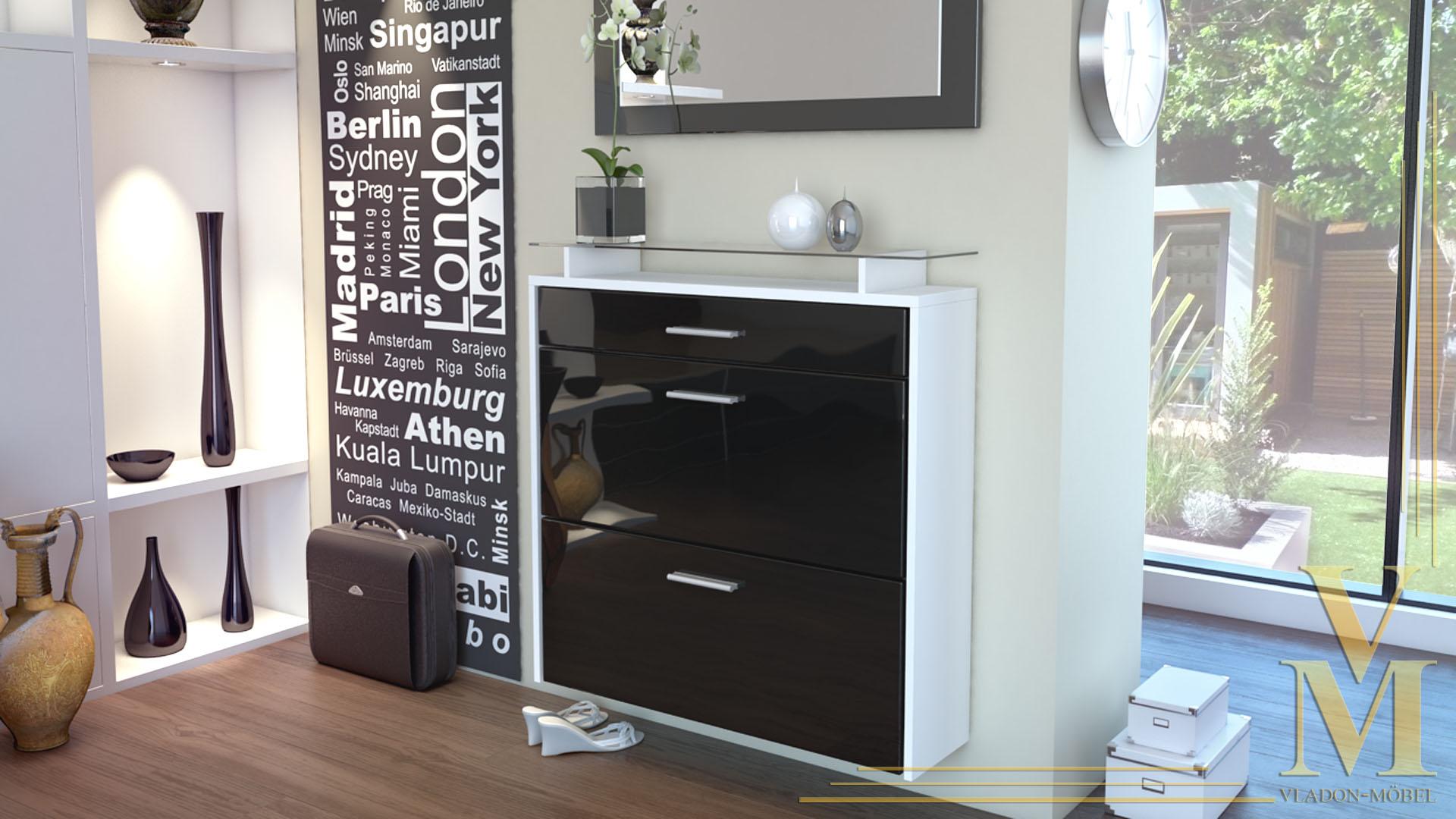 schuhschrank schuhkipper h ngeschuhschrank malea in wei. Black Bedroom Furniture Sets. Home Design Ideas