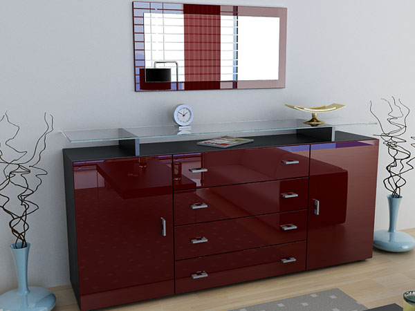 sideboard anrichte mesa v2 hochglanz versch farben ebay. Black Bedroom Furniture Sets. Home Design Ideas