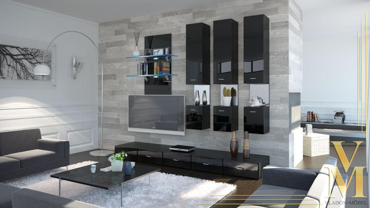 Moderne Anbauwand ~ Home Design und Möbel Interieur Inspiration