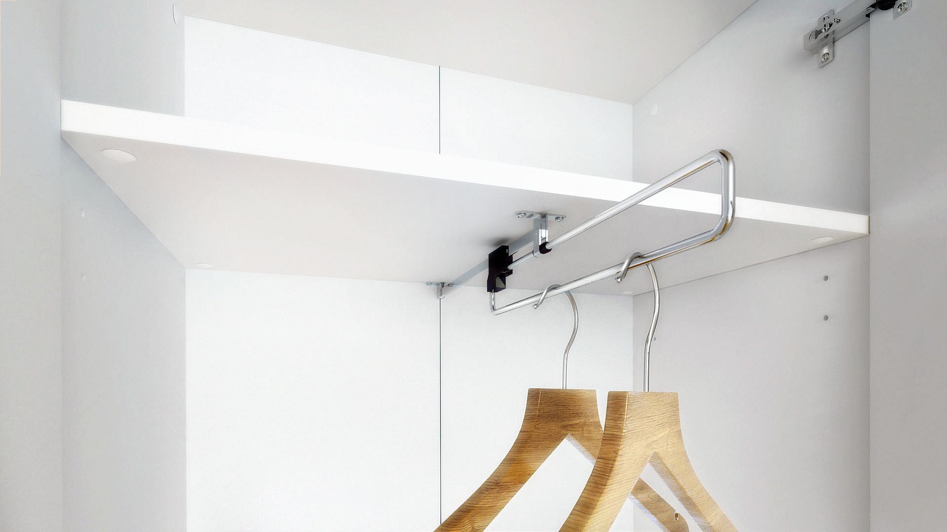 garderobenschrank flur dielenschrank moravia wei hochglanz matt naturt ne ebay. Black Bedroom Furniture Sets. Home Design Ideas