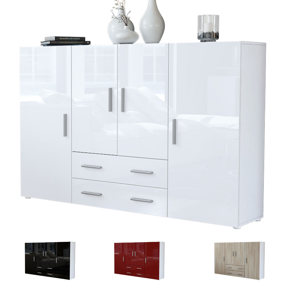 modern sideboard buffet storage cabinet dresser cupboard. Black Bedroom Furniture Sets. Home Design Ideas